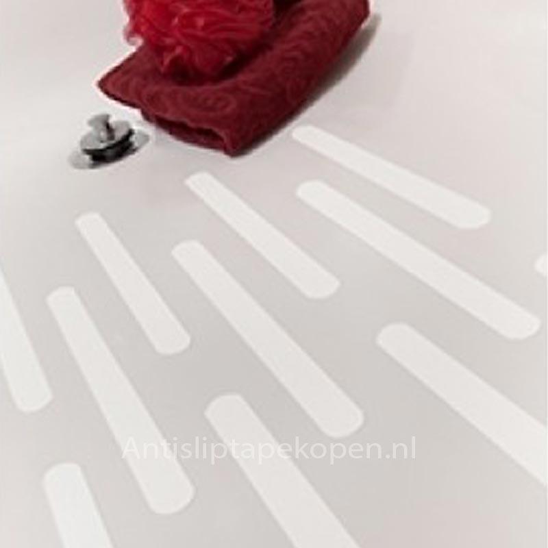 Antislip strips wit voor bad en douche 640mm x 30mm (set 6 stuks ...