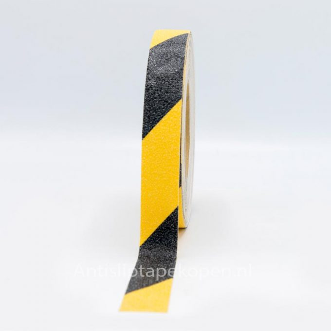 zwart gele antislip tape 25 mm.