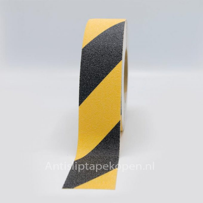 zwart gele antislip tape 50 mm.