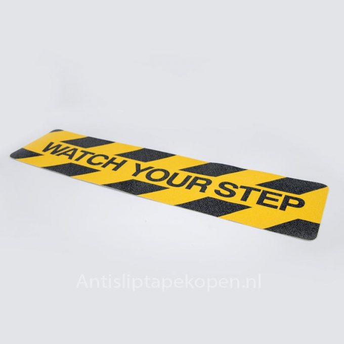 Watch your step waarschuwing anti-slip 600 x 150 mm